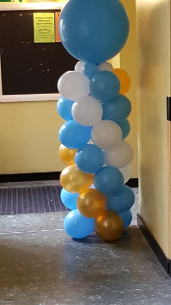 Balloon Column with Giant Balloon finish!!