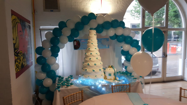 Balloon Arch & High Table!!!