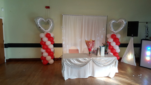Heart balloon columns!!!