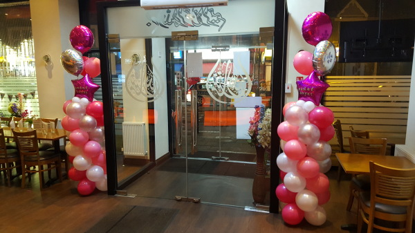 Balloon column entrance!!!