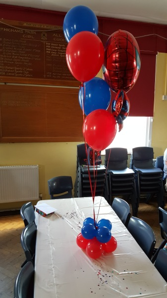 Spiderman Balloon centrepieces!!!