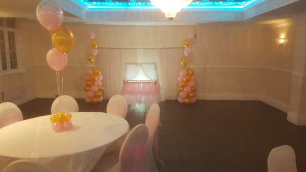 Christening: colour code Pink and Gold!!!