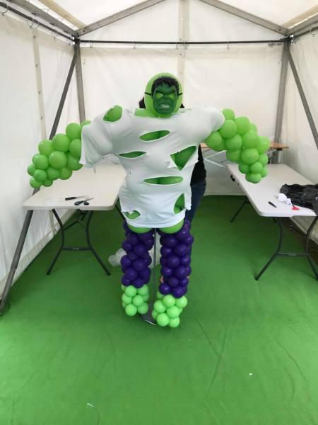 balloon, balloon incredible hulk, avengers party