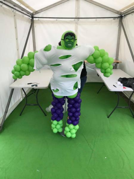 balloon, balloon incredible hulk, avengers party
