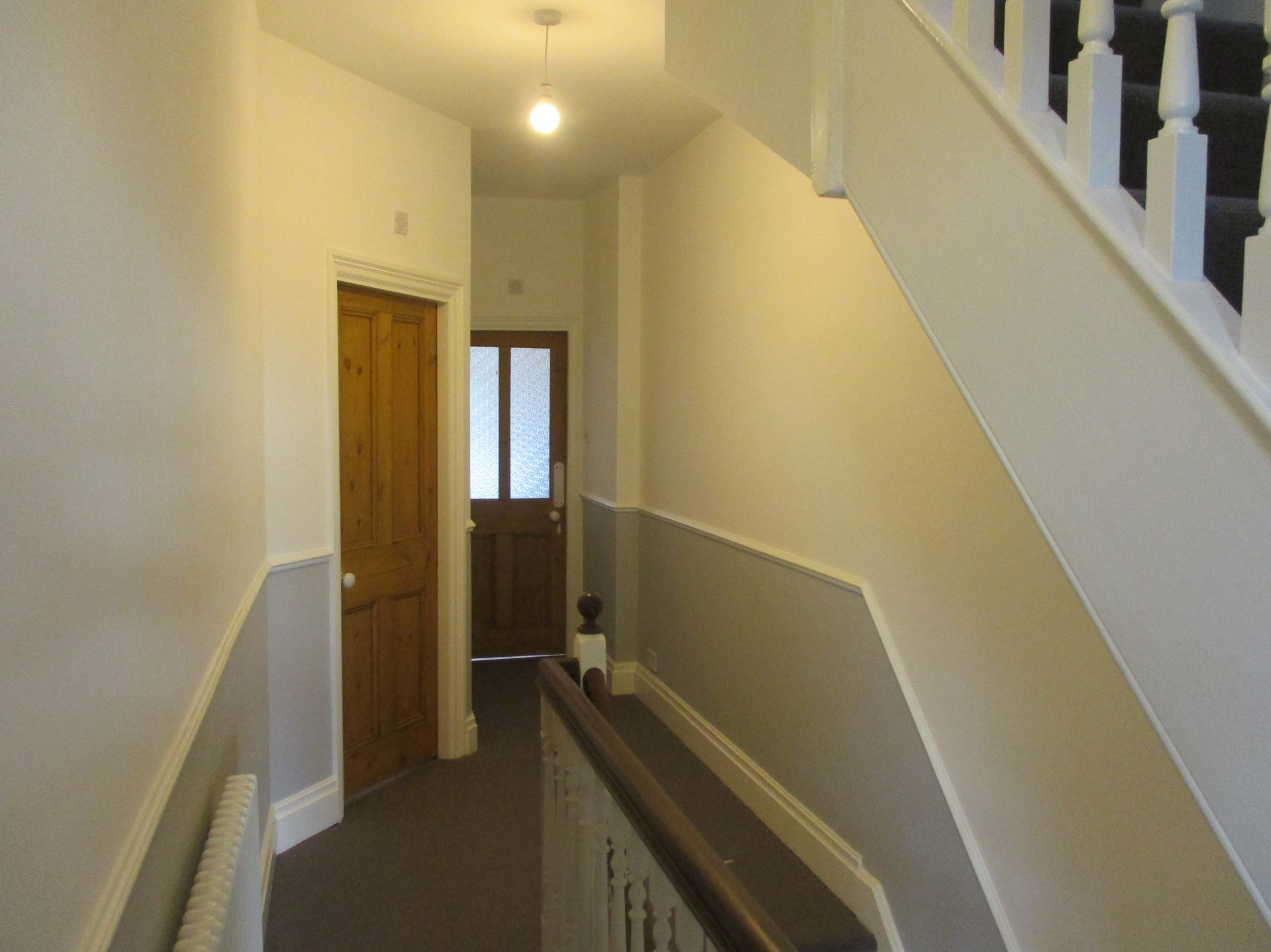 painted finished hallway
