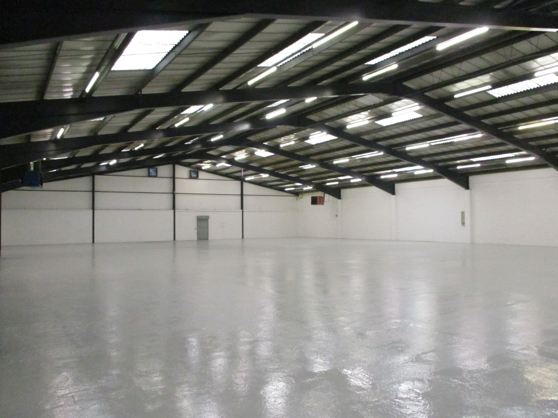 Industrial painting warehouse finished job