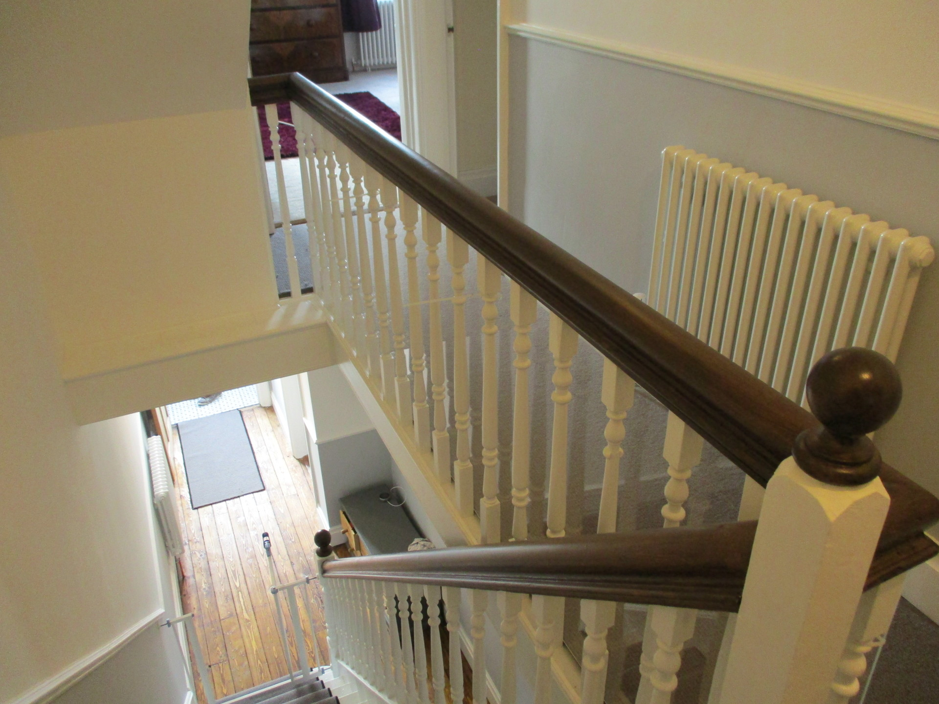 painting and decorating ideas finshed hallway