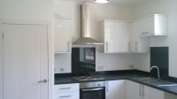 painted finished kitchen