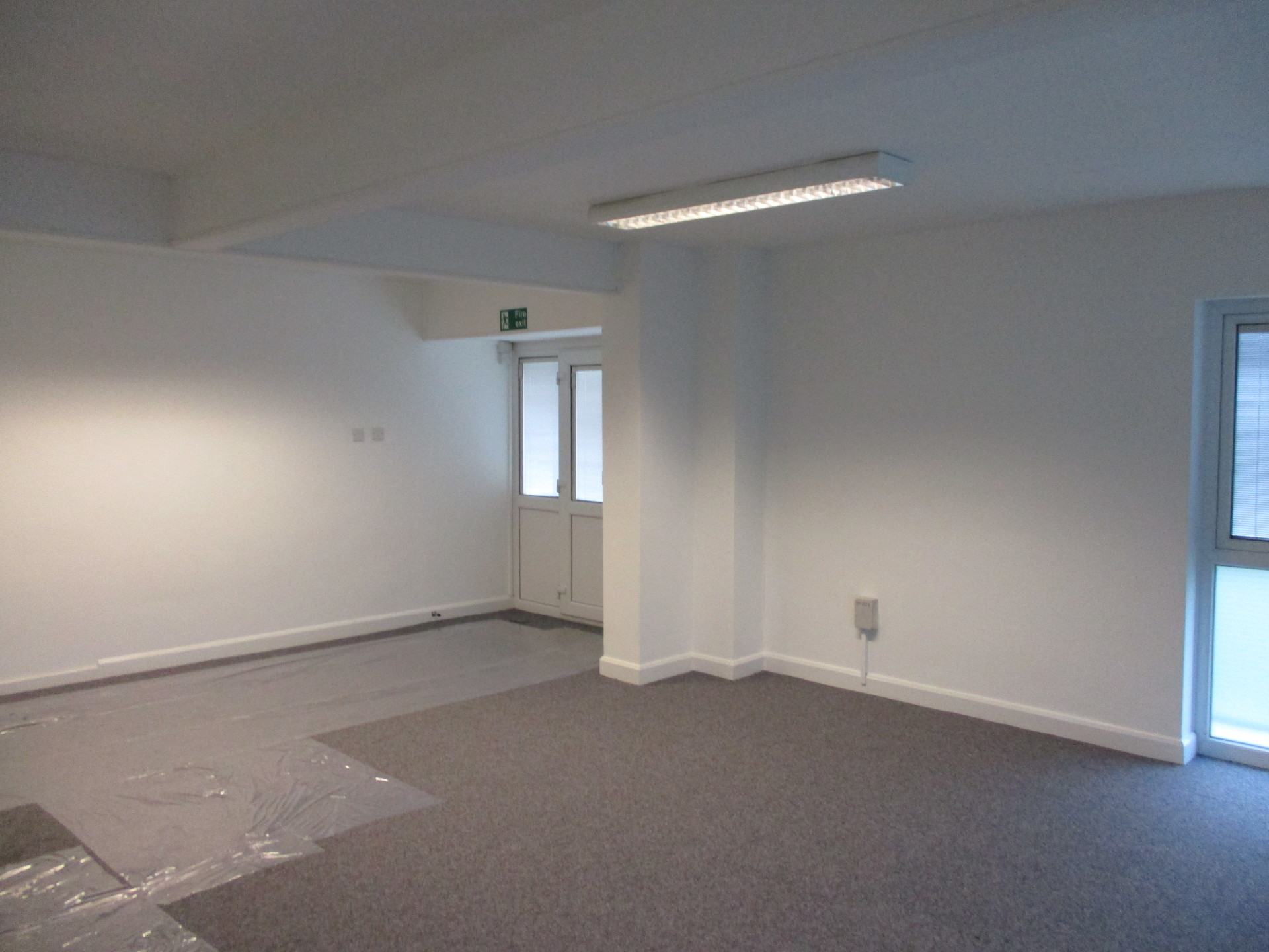 painted finished offices