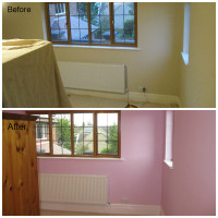 painted bedroom before and after pictures