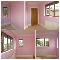 painted bedroom