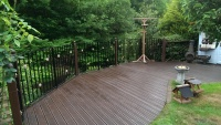 painted exterior decking