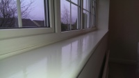 Quality painting window sill