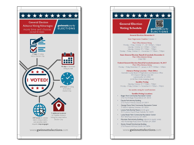 Gwinnett County General Election Early Voting Rack Card