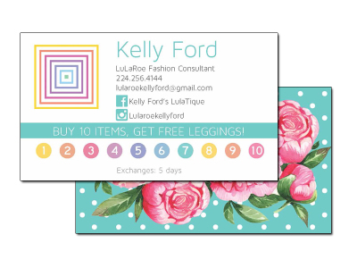 Lularoe Business Card front & back   (Marketing materials)