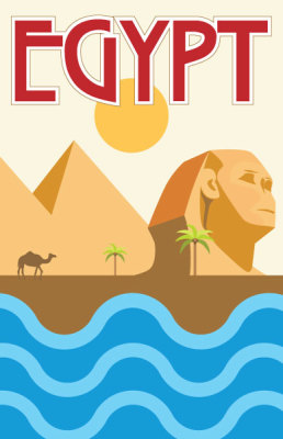 Egypt Travel Poster