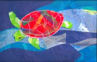 Cut-paper Sea Turtle