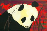 Cut-paper Panda Bear
