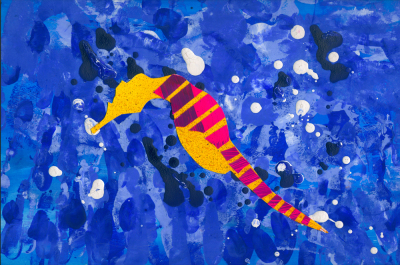 Cut-paper Sea Horse