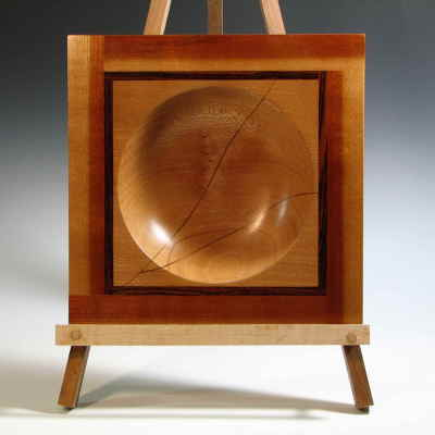 Square Bowl  Sycamore, Cherry, & Wenge