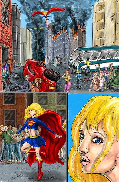 Supergirl page 3