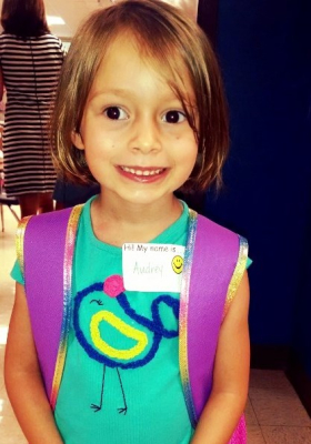 Reflections on Audrey's 1 Day of Kindergarten