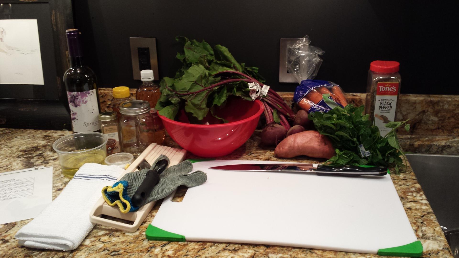 Raw Beet & Mint Salad