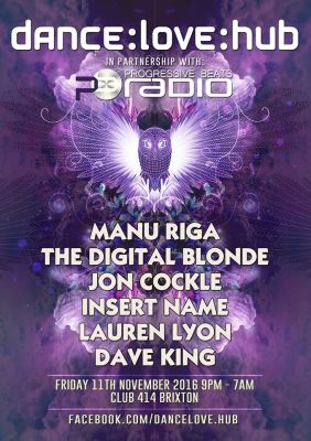 Manu Riga  live in LONDON  as part of Dance Love Hub  11/11/2016