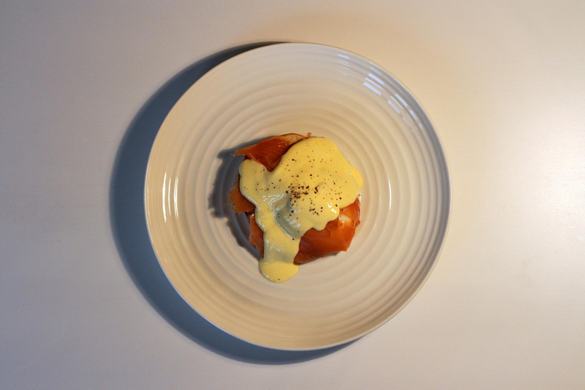 Salmon, Egg, Hollandaise