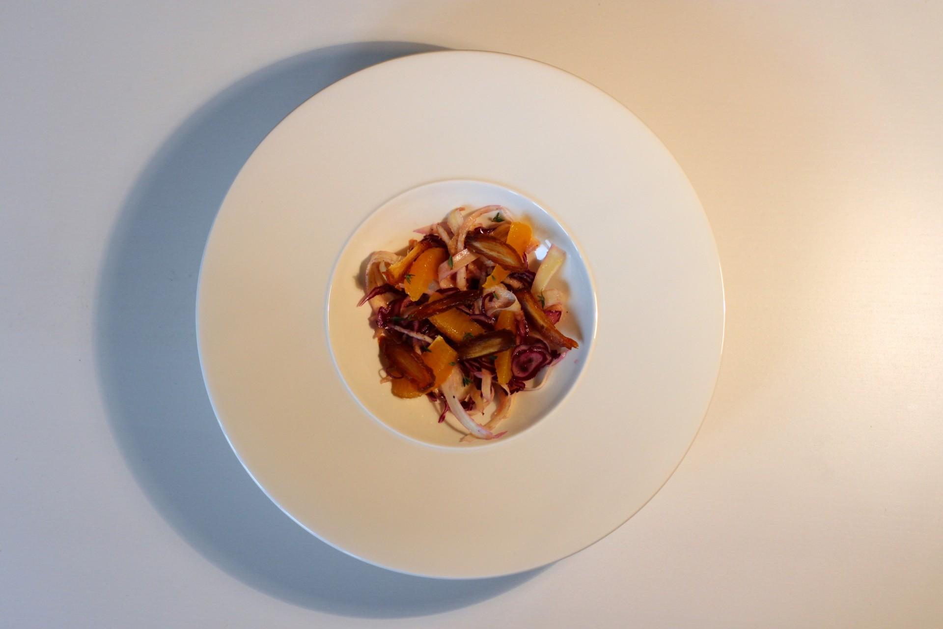 Orange, Parsnip, Red Cabbage