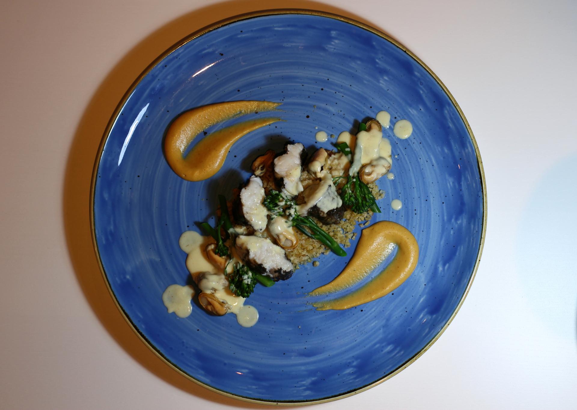 Monkfish, Butternut Squash, Broccoli
