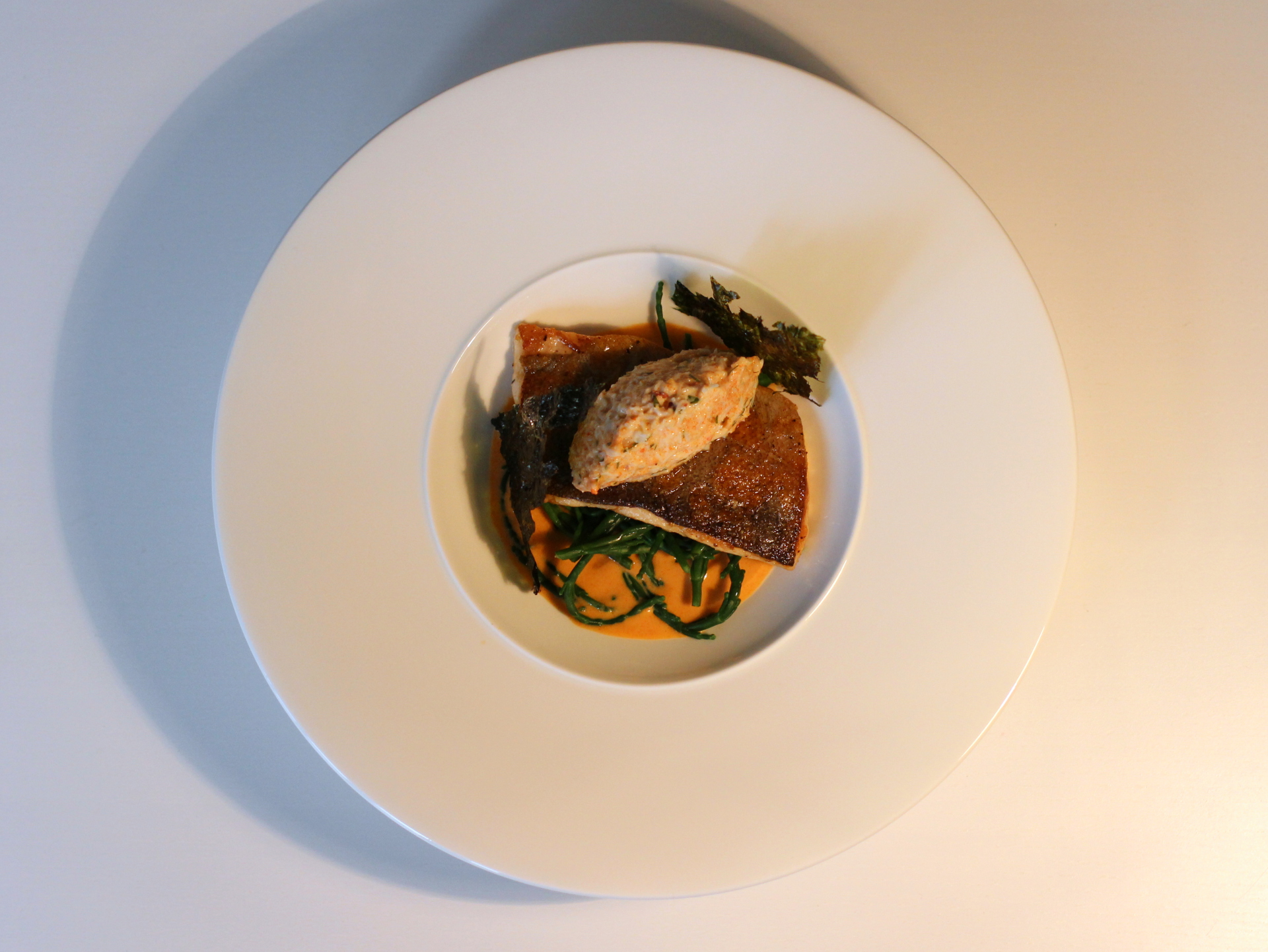 Trout, Crab, Samphire