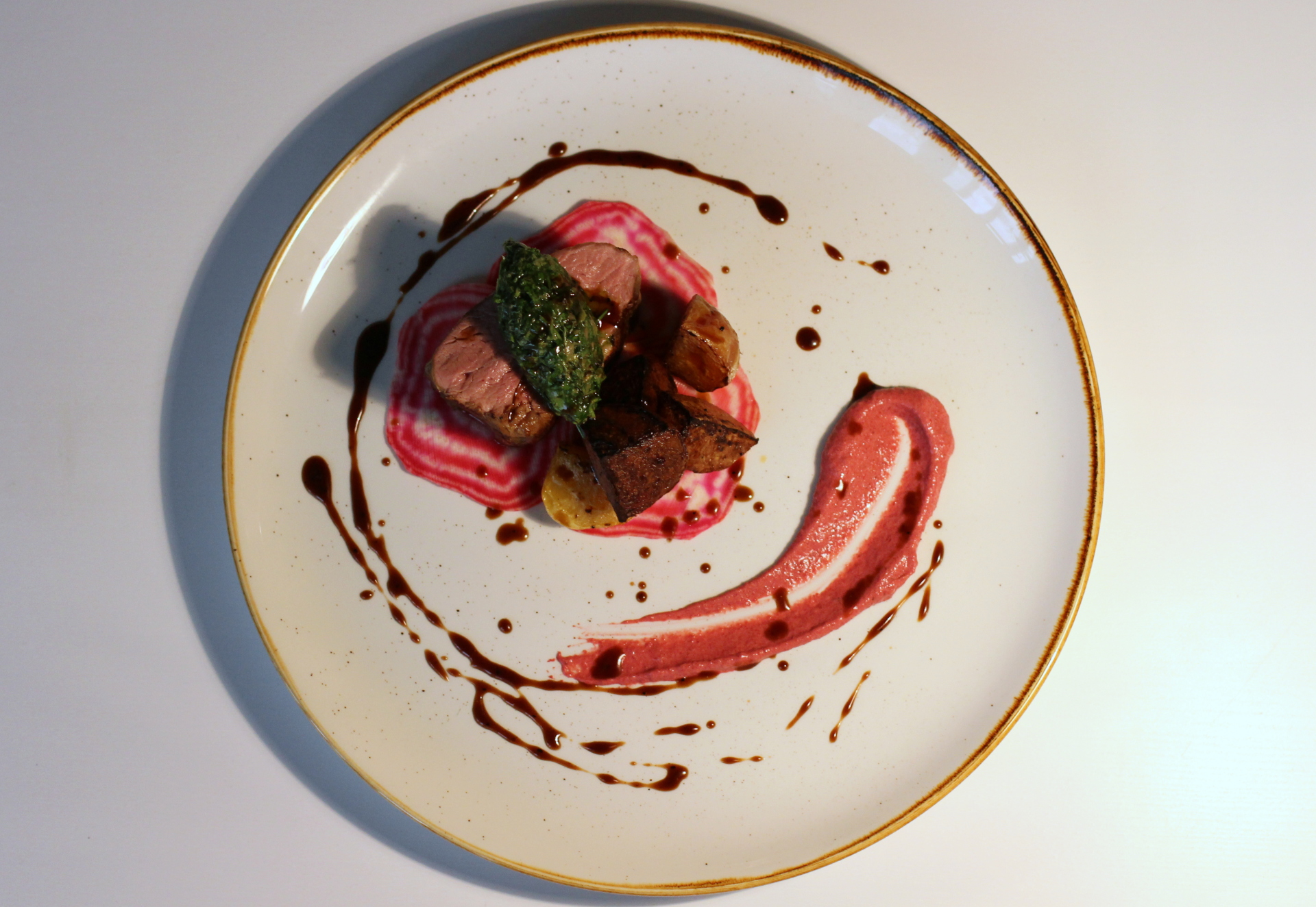 Lamb, Beetroot, Herbs
