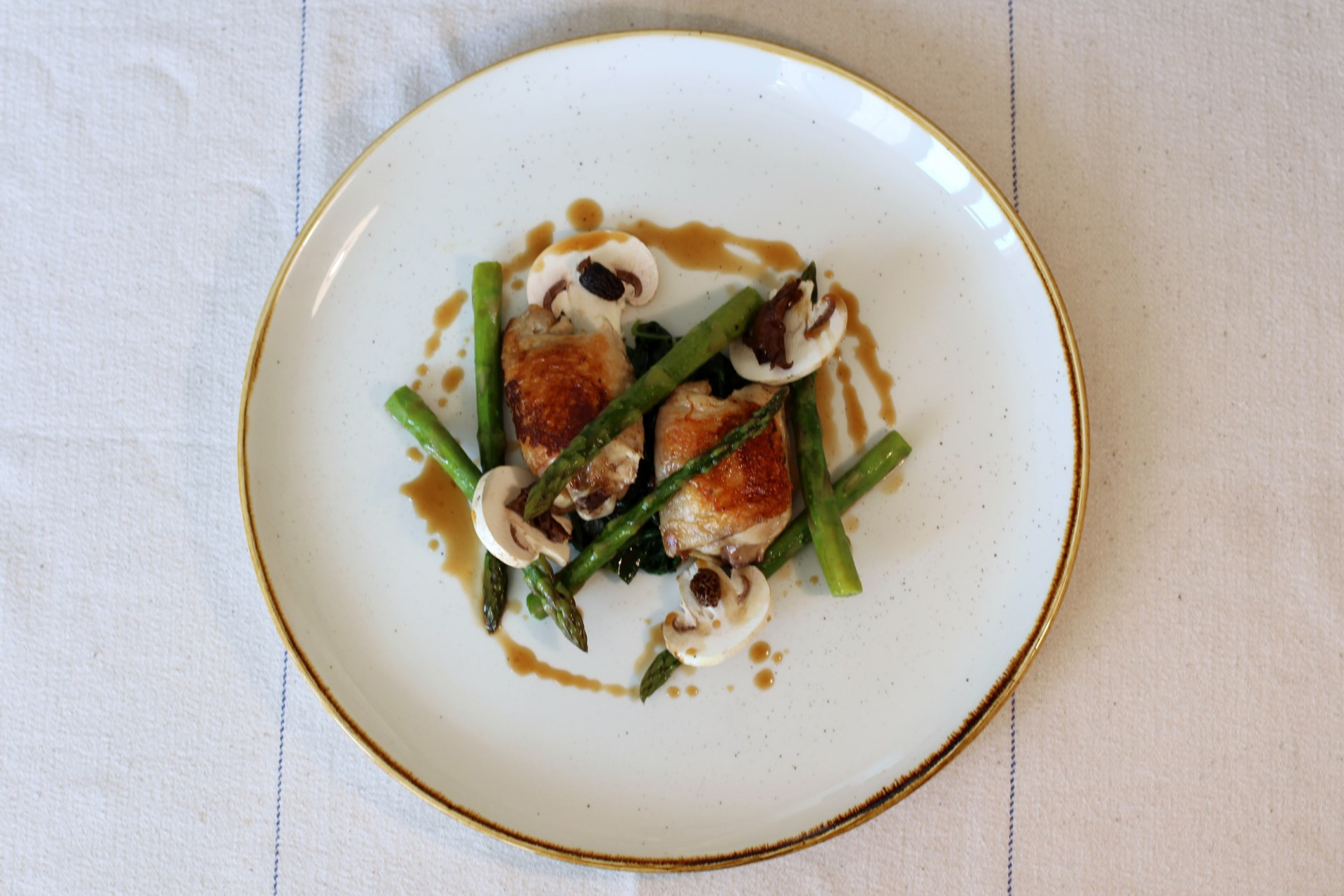 Chicken, Asparagus, Wild Garlic