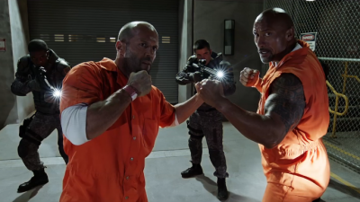 "The Rock and Statham Bring It in an All-New Action Clip from ""The Fate of the Furious!"""