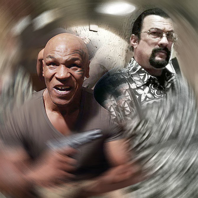 "Steven Seagal and Mike Tyson Bring the Carnage in the Trailer for ""Chinese Salesman"""