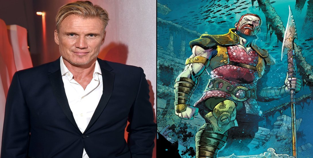 "Action Legend Dolph Lundgren is Taking on Jason Momoa in ""Aquaman!"""