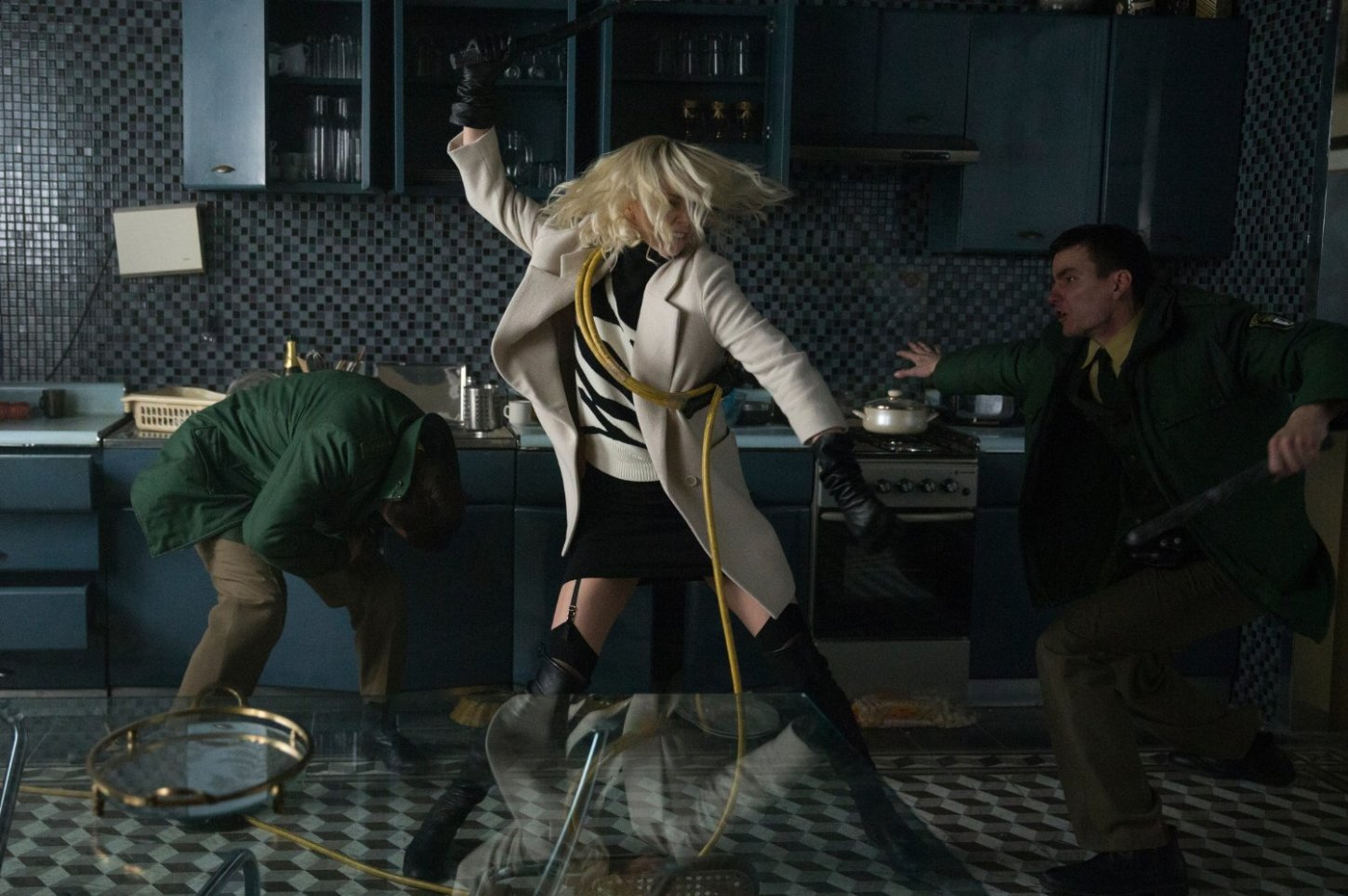 "Charlize Theron Kicks a Whole Lot of Butt in the New Clip for ""Atomic Blonde"""