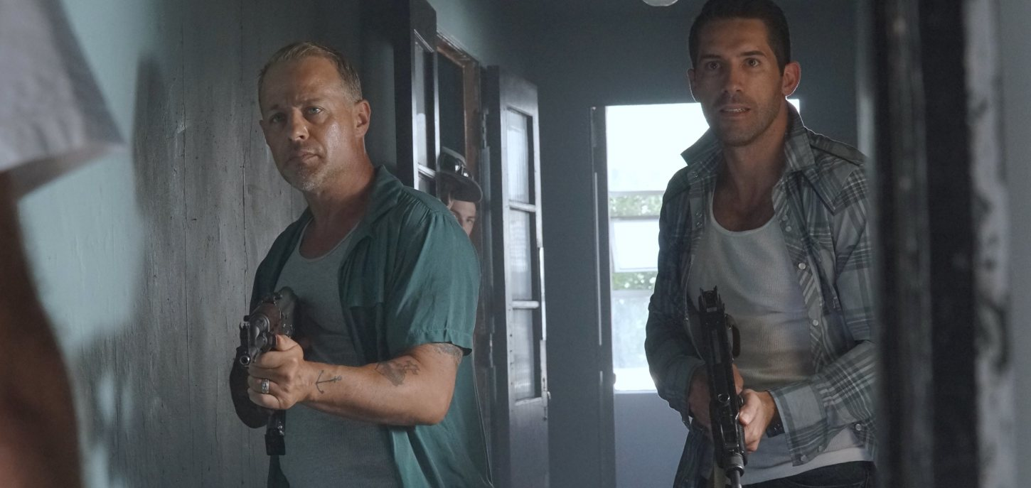 "Scott Adkins and Louis Mandylor are Armed and Ready for ""The Pay Up!"""