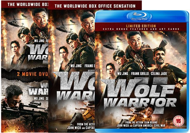 "Home Video: Wu Jing's Epic ""Wolf Warrior"" Saga Invades the UK this Month in a Special Box Set!"