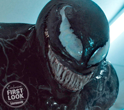 A Grinning VENOM is One of Two New Images Unveiled from the Upcoming Comic Book Adaptation!