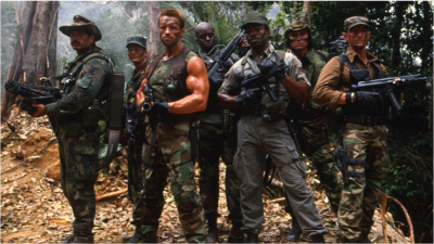 THE ACTION FIX: Schwarzenegger and Group Decimate the Guerrilla Base in the 1st Classic PREDATOR!