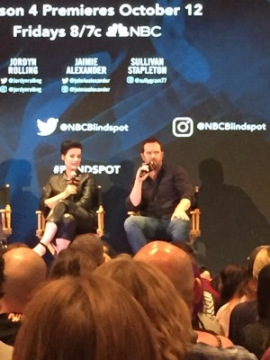 NYCC 2018: Jaimie Alexander & Sullivan Stapleton at the BLINDSPOT Panel- Exclusive Photos!
