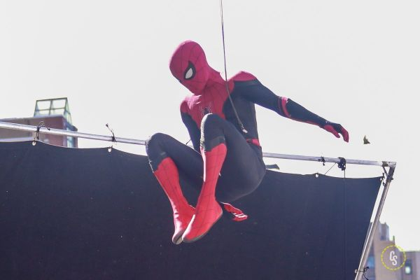Spidey Rocks the Red and Black Suit in New SPIDER-MAN: FAR FROM HOME Set Pics!