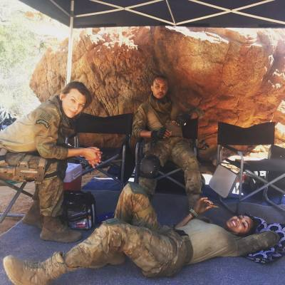 Milla Jovovich Releases New Behind the Scenes Pics from the Set of MONSTER HUNTER