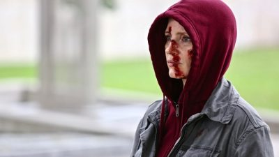 Jessica Chastain is Bloodied and Broken in a New image from the Action-thriller EVE