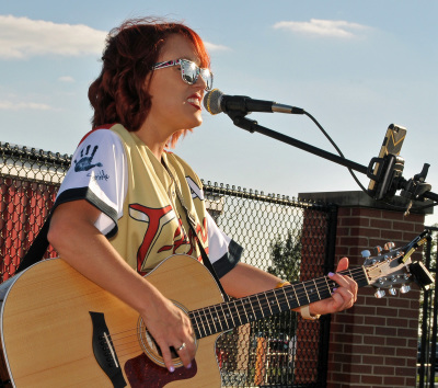 Casi Joy Performs at Tailgate Concert