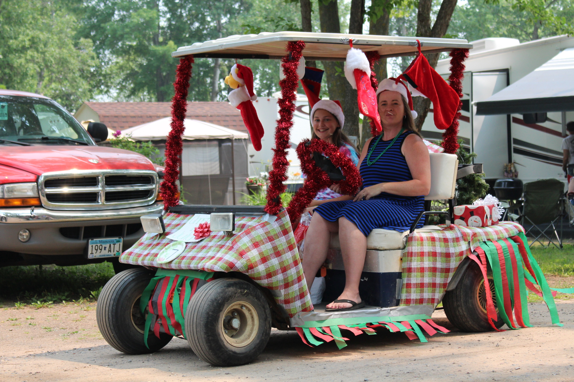 Christmas In July Golf Cart Decorations