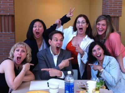 Silliness with colleagues and Jake Heggie at Songfest in Los Angeles