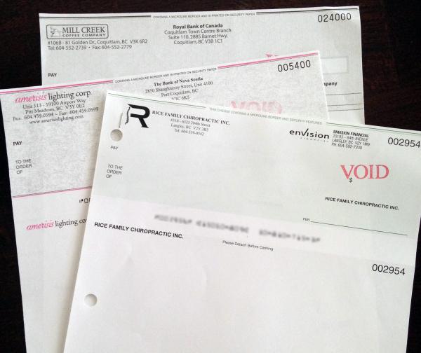 Company Cheques